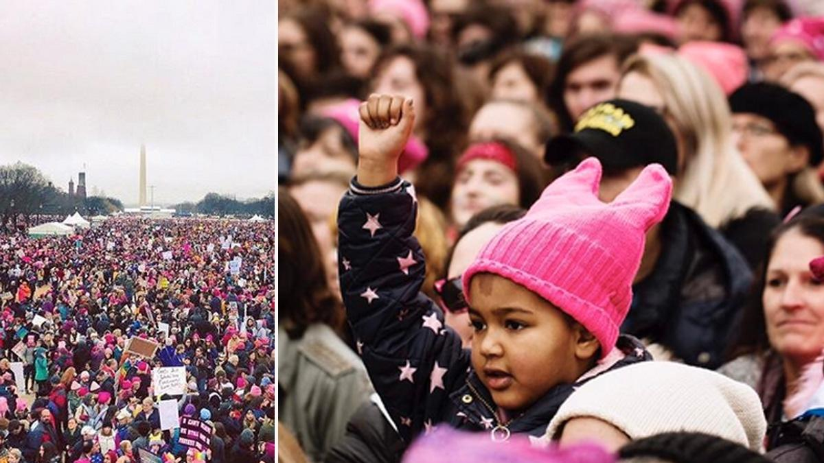 Amerykanki jednoczą siły! Od 1,5 do 2 milionów osób na Marszu Kobiet w USA