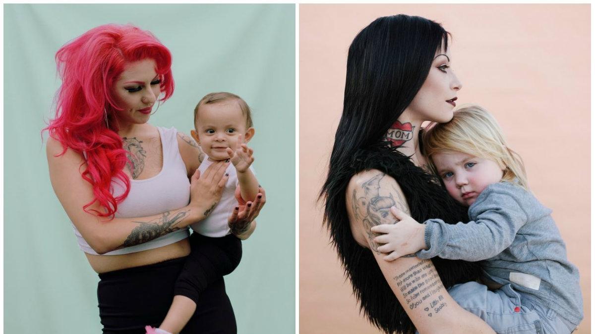 Kolczyki, tatuaże, kolorowe włosy... Nietypowe matki pokazują, że to nie wygląd definiuje rodzica