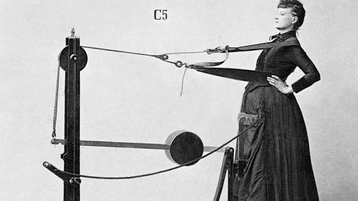 Narzędzia tortur? Nie, tak sto lat temu wyglądały siłownie!