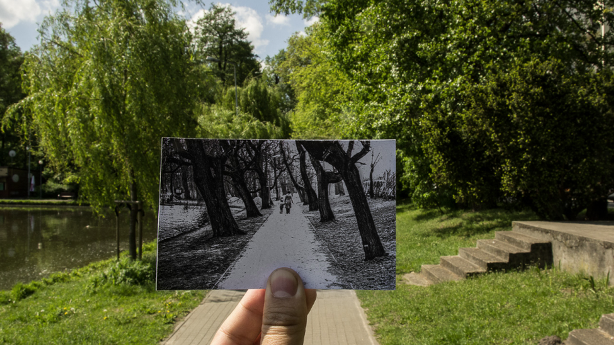 Odnalazł miejsca ze starych fotografii i zestawił je na jednym zdjęciu. Poznajecie to miasto? Jest w Polsce!