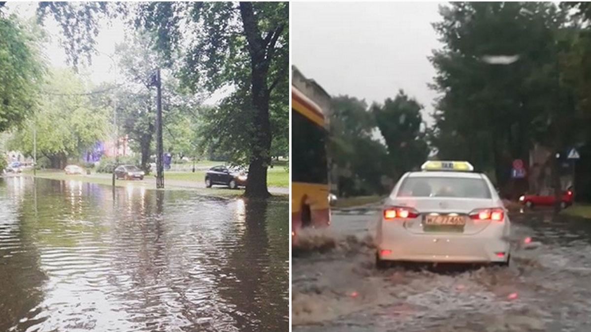 Pozrywane dachy, połamane drzewa, przewrócone samochody. Przez Polskę przechodzi burzowe piekło