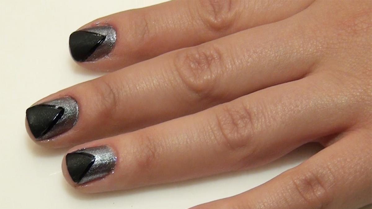 Srebrno Czarny Manicure Krok Po Kroku Video Polkipl