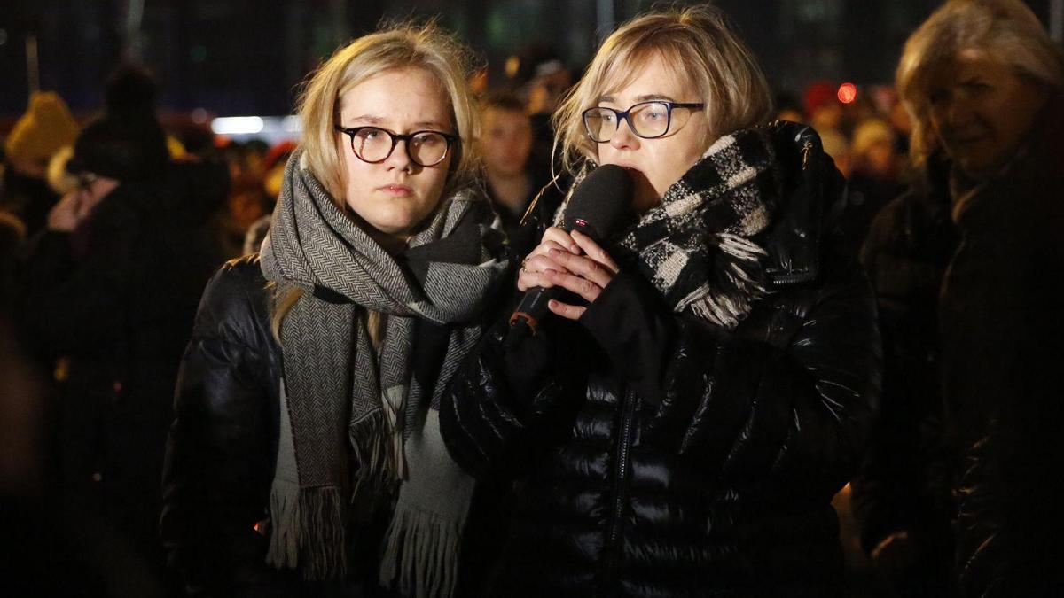 Magdalena Adamowicz z córką
