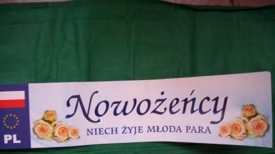 2 tablice rejestracyjne ''nowozency''