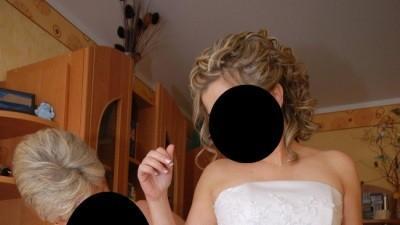 500zł za Suknię ślubną SARA rozmiar 38, białą, I właścicielka, st.b.dobry