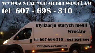 607-698-310 wywóz starych mebli Wrocław,cena,opróżnianie mieszkań,piwnic,cennik