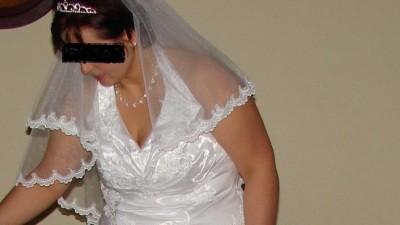 A Wyjątkowa okazja suknia ślubna z welonem za połowę ceny salonowej