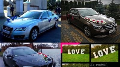 Auto do Ślubu AUDI A7, MERCEDES E220 i BMW 7 • Brodnica • Toruń okol.