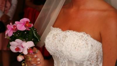 Awangardowa suknia ślubna