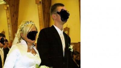 Bajkowa suknia ślubna -z bolerkiem na jesień/wiosne