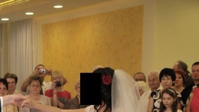 Bajkowa suknia ślubna z kolekcji 2012 - roz. 38 gratis bolerko,welon,ponczochy