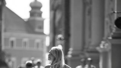 Bajkowa suknia ślubna z trenem MADONNA 36/38