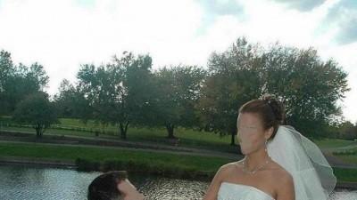 Bardzo efektywna suknia ślubna a'la Syrenka