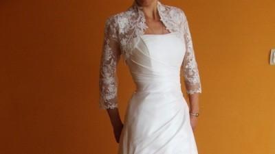 bardzo piękna suknia ślubna