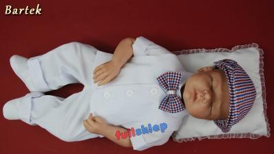 Bawełniane ubrano na chrzest dla niemowlaka od 62 do 86