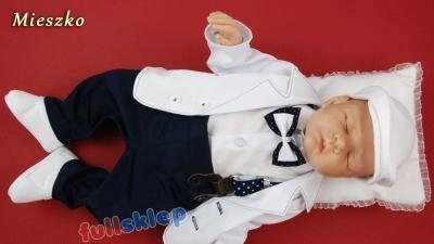 Bawełniane z marynarką ubrano do chrztu dla niemowlaka