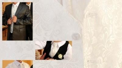 Biała Kamizelka Ślubna i musznik + GRATIS