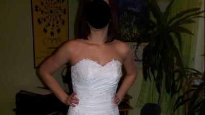Biała nieużywana suknia do sprzedania