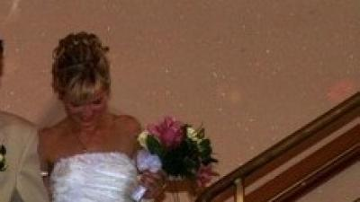 Biała perłowa suknia, 38-40, welon+rekawiczki