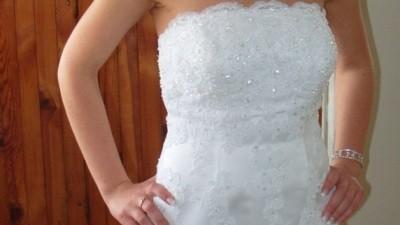 Biała piękna suknia ślubna, Kolekcja Miss Kelly, model:Cassis