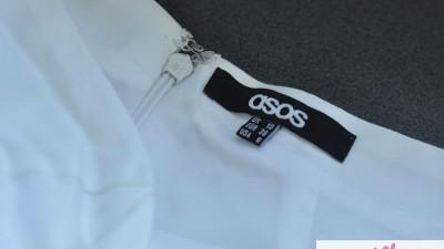 biała sukienka gorsetowa ASOS