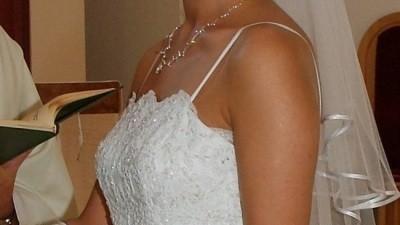 biała Suknia firmy NAVONA lato 2007