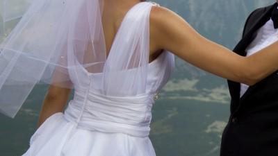 Biała suknia model Arcadi Rossa