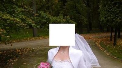 Biała suknia ślubna dla drobnej Panny Młodej