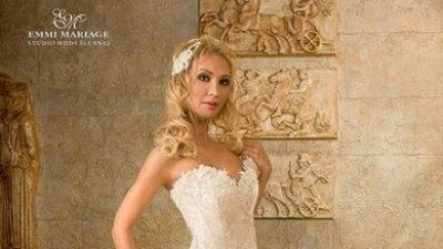 biała suknia ślubna(Emmi Mariage-Romance)rozm.36/38 wzrost165-170cm,1400zł
