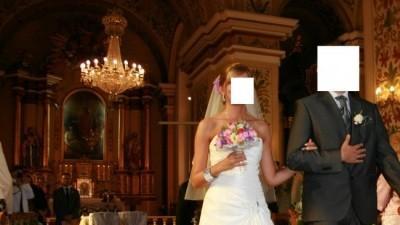 biała suknia ślubna evan z kolekcji herms Madonna  36/38