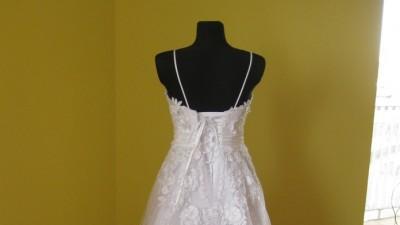 ***Biała suknia ślubna*** HERMS BROCHE rozmiar 38