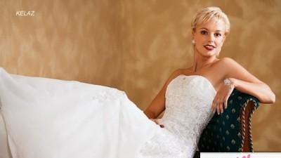 Biała suknia ślubna Kelaz