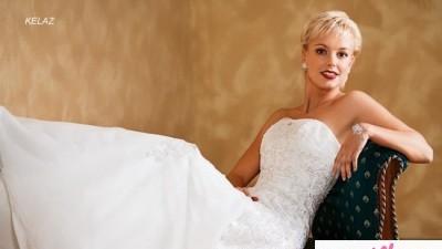 Biała suknia ślubna model Kelaz firmy Herms, rozm.38-40 + dodatki