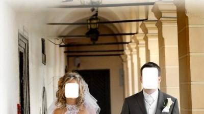 biała suknia ślubna projekt-Emmi Mariage rozmiar36/38 wzrost165-170cm,1400zł
