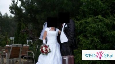 Biała Suknia Ślubna / Rozmiar: 36/38