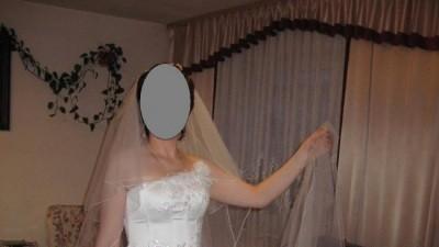 biała suknia ślubna:spódnica + gorset