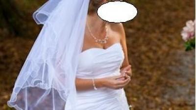 Biała suknia z falbanami!!