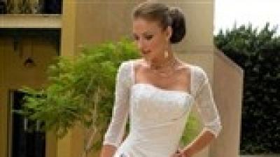 Biała suknia z rękawkami wzór Maggie Sottero rozm. 40