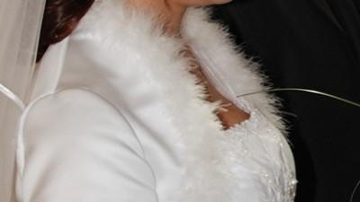 białe bolerko