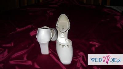 Białe buty -ślubne