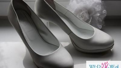 Białe buty ślubne marki SALA roz. 39