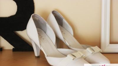 białe skórzane buty Ryłko idealne na ślub rozm. 35