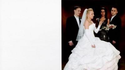 Biało rózowa suknia ślubna 400zł