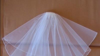 Biały welon ślubny, 15zł
