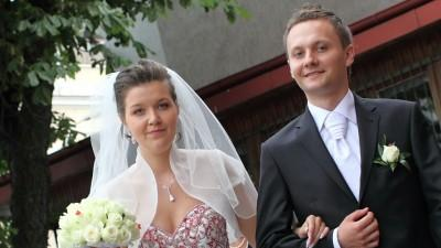 biały welon ślubny La Mariee