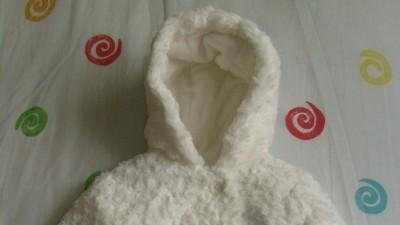 Biały zimowy kombinezon chrzest 62