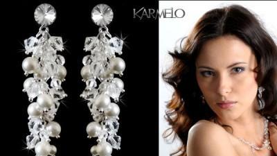 Biżuteria ślubna Swarovski Elements srebro