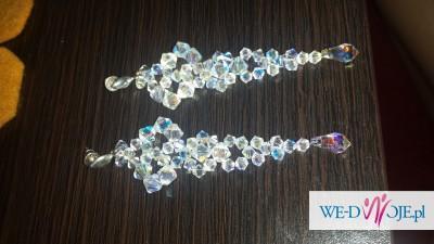 Biżuteria swarovski kolczyki + bransoletka