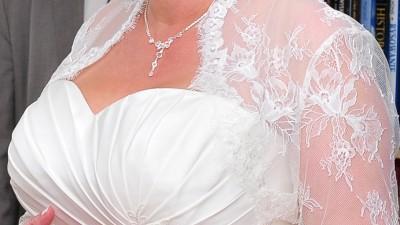 bolerko ślubne ivory rozmiar 42