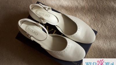 Buty kremowe ślubne, do ślubu rozm. 41